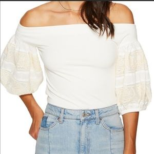 Free People Rock With It Off Shoulder Top